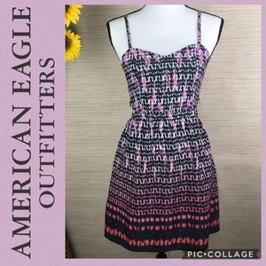 American Eagle Outfitters Ombre Side Cut Out Dress